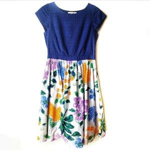 [Boden] Fit & Flare Floral Print Dress size 8